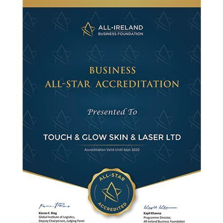 Business All Star Accreditation Award - Touch & Glow Skin And Laser Clinic
